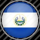 circle, country, el salvador, flag, national