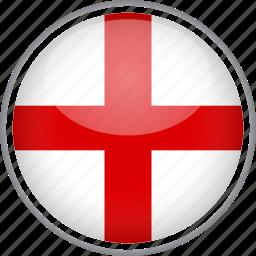 circle, country, england, flag, national icon