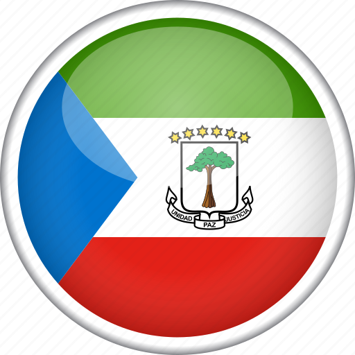 circle, country, equatorial guinea, flag, national icon