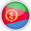 circle, country, eritrea, flag, national icon