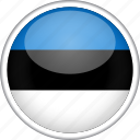 circle, country, estonia, flag, national icon