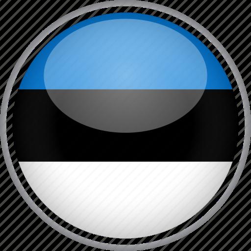 circle, country, estonia, flag, national icon