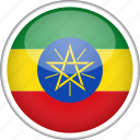circle, country, ethiopia, flag, national icon