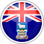 circle, country, falkland, flag, national icon