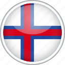 circle, country, faroe, flag, national icon
