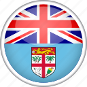 circle, country, fiji, flag, national icon