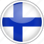 circle, country, finland, flag, national icon