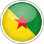 circle, country, flag, french guiana, national icon