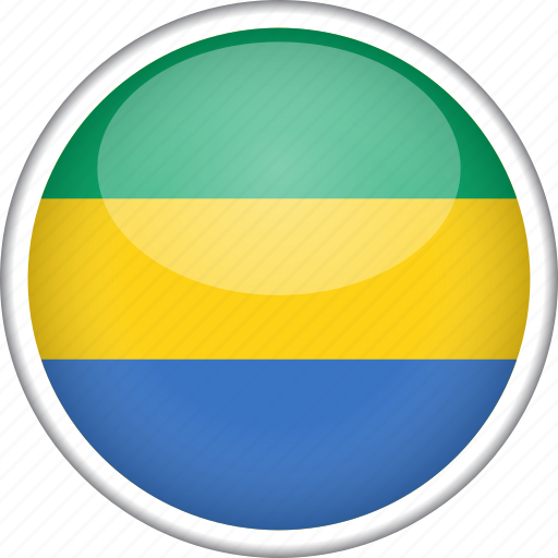 circle, country, flag, gabon, national icon