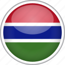 circle, country, flag, gambia, national icon