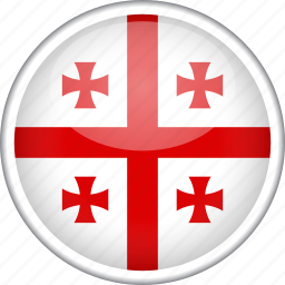 circle, country, flag, georgia, national icon