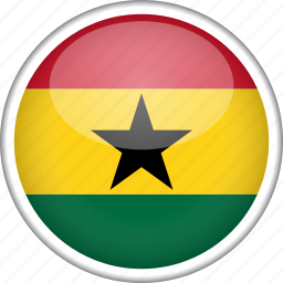 circle, country, flag, ghana, national icon