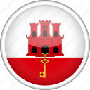 circle, country, flag, gibraltar, national icon