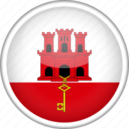 circle, country, flag, gibraltar, national icon
