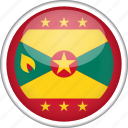 circle, country, flag, grenada, national icon