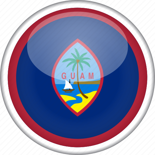 circle, country, flag, guam, national icon