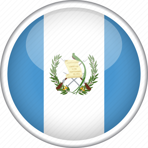 circle, country, flag, guatemala, national icon