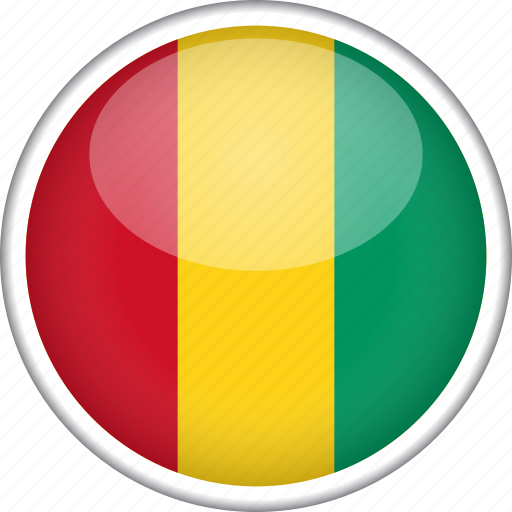 circle, country, flag, guinea, national icon
