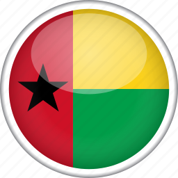 circle, country, flag, guinea-bissau, national icon