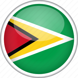 circle, country, flag, guyana, national icon