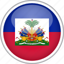 circle, country, flag, haiti, national icon
