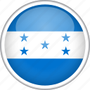 circle, country, flag, honduras, national icon