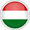 circle, country, flag, hungary, national