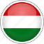 circle, country, flag, hungary, national icon