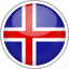 circle, country, flag, iceland, national icon