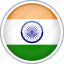 circle, country, flag, india, national icon