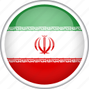 circle, country, flag, iran, national icon