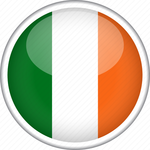 circle, country, flag, ireland, national icon