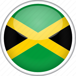 circle, country, flag, jamaica, national icon