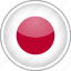 circle, country, flag, japan, national icon