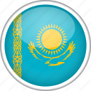 circle, country, flag, kazakhstan, national icon