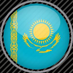 circle, country, flag, kazakhstan, national icon