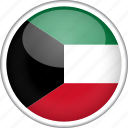 country, circle, flag, national, kuwait
