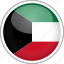 circle, country, flag, kuwait, national icon