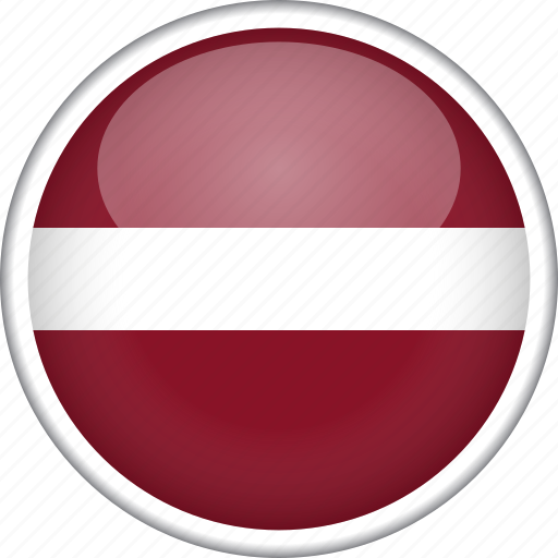 circle, country, flag, latvia, national icon