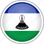 circle, country, flag, lesotho, national icon