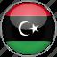 circle, country, flag, libya, national icon