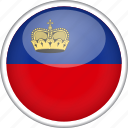 circle, country, flag, liechtenstein, national icon