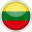 circle, country, flag, lithuania, national icon