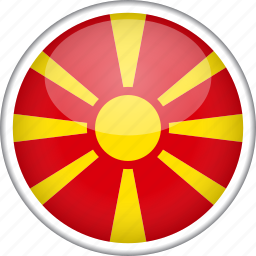 circle, country, flag, macedonia, national icon