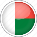circle, country, flag, madagascar, national