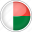 circle, country, flag, madagascar, national icon
