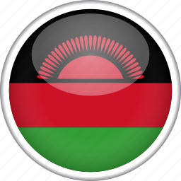 circle, country, flag, malawi, national icon