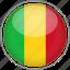 circle, country, flag, mali, national icon
