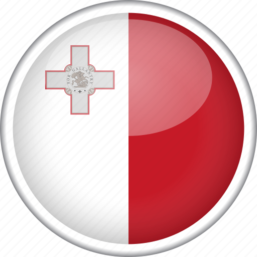 circle, country, flag, malta, national icon
