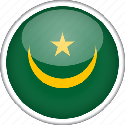 circle, country, flag, mauritania, national icon